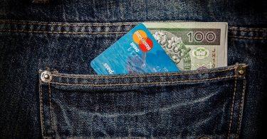 money inside pocket